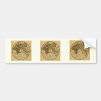 Antique William Faden 1786 Eastern Hemisphere Map Bumper Sticker