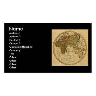 Antique William Faden 1786 Eastern Hemisphere Map Business Card Template