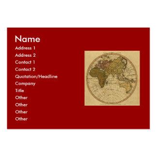 Antique William Faden 1786 Eastern Hemisphere Map Business Card Templates