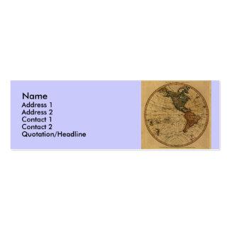 Antique William Faden 1786 Western Hemisphere Map Business Card