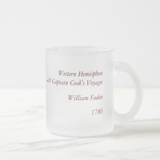 Antique William Faden 1786 Western Hemisphere Map Frosted Glass Coffee Mug