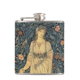 Antique William Morris Flora Hip Flask
