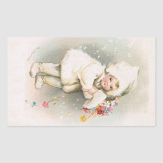 Antique Winter Snow Baby Sticker
