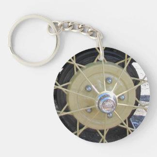 Antique Wire Wheel Key Chain