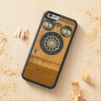Antique Wooden Wall Phone Maple iPhone 6 Bumper