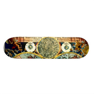 Antique World Globe Map Vintage Art Wall Board Skate Deck