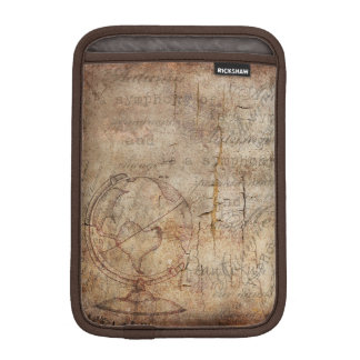 Antique World Globe Rustic Brown iPad Mini Sleeve