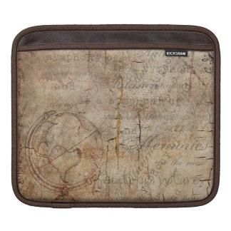 Antique World Globe Rustic Brown iPad Sleeve