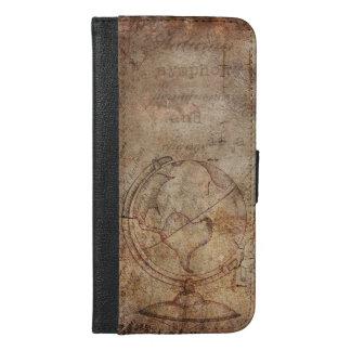 Antique World Globe Rustic Brown iPhone Case