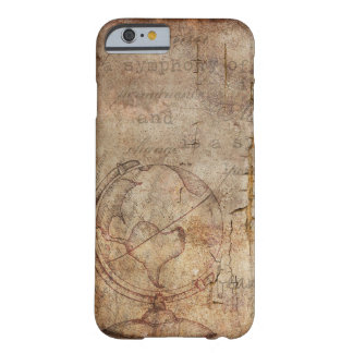 Antique World Globe Rustic Brown iPhone Case