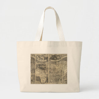 Antique World Map 1507 Jumbo Tote Bag