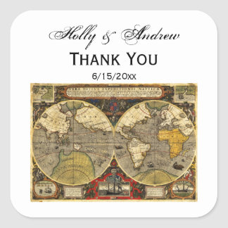Antique World Map #2 Favor Tags