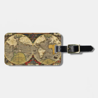 Antique World Map #2 Luggage Tag
