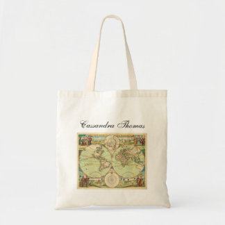 Antique World Map #4 Tote Bag