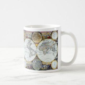 Antique World Map, Atlas Maritimus by John Seller Coffee Mug