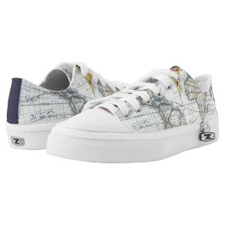 Antique World Map, Atlas Maritimus by John Seller Low-Top Sneakers