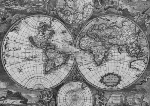 Black white vintage world map gifts on zazzle ca antique world map blackwhite passport holder gumiabroncs Images
