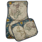 Antique World Map - Blaeu, Joan 1664 Car Mat