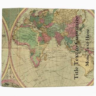Antique World Map by Carington Bowles, circa 1780 Binder