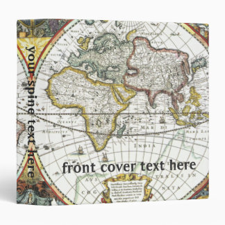 Antique World Map by Hendrik Hondius, 1630 Binder
