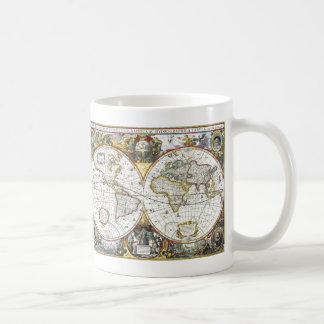 Antique World Map by Hendrik Hondius, 1630 Coffee Mug