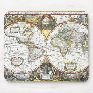 Antique World Map by Hendrik Hondius, 1630 Mouse Pad