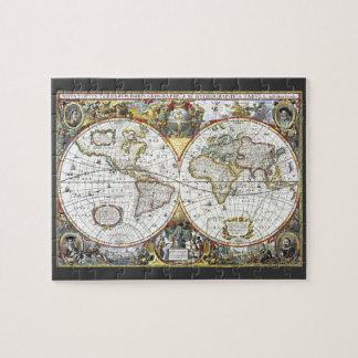 Antique World Map by Hendrik Hondius, 1630 Puzzle