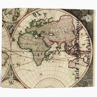 Antique World Map by Nicolao Visscher, circa 1690 Vinyl Binder