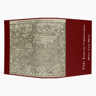 Antique World Map by Sebastian Münster circa 1560 Vinyl Binders