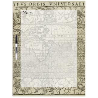 Antique World Map by Sebastian Münster circa 1560 Dry-Erase Board