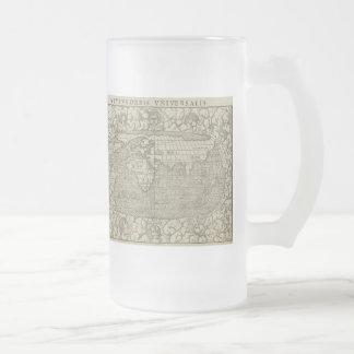 Antique World Map by Sebastian Münster circa 1560 Coffee Mugs