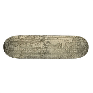 Antique World Map by Sebastian Münster circa 1560 Skateboard Decks