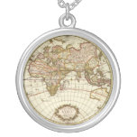 Antique World Map, c. 1680. By Frederick de Wit Custom Necklace