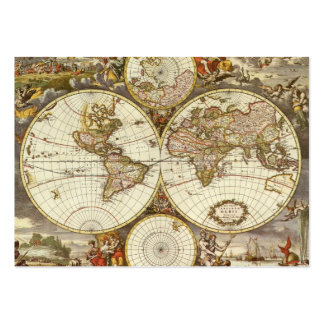 Antique World Map, c. 1680. By Frederick de Wit Pack Of Chubby Business Cards