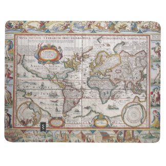 Antique World Map custom journal
