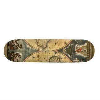 Antique World Map J. Blaeu 1664 Skateboard Decks