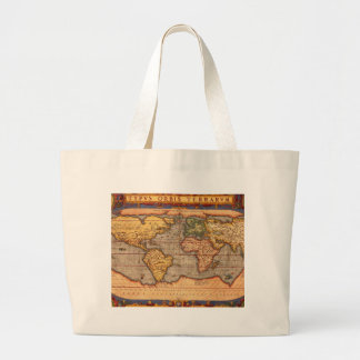 Antique World Map Jumbo Tote Bag