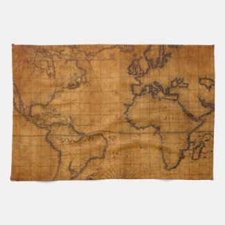 Antique World Map Kitchen Towel