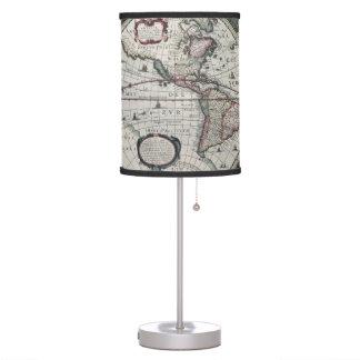 Antique World Map Lamp