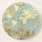 Antique World Map of the British Empire, 1886 Coaster