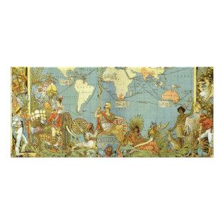 Antique World Map of the British Empire, 1886 Custom Rack Card