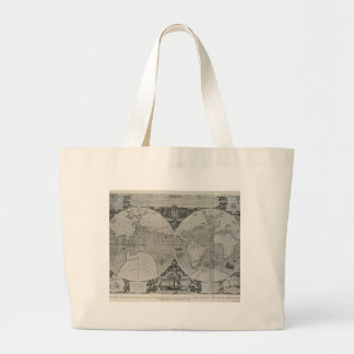 Antique World Map - Old maps of Asia Jumbo Tote Bag