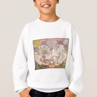 Antique World Map Sweatshirt