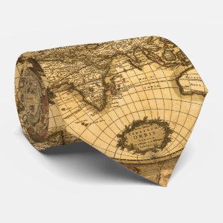 Antique World Map Tie