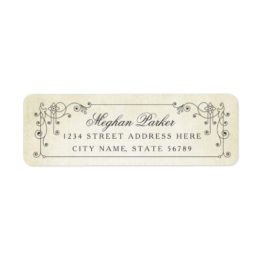 Antiqued Affair Return Address Labels