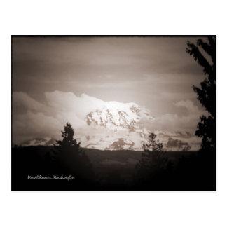 Antiqued Mount Rainier Postcard