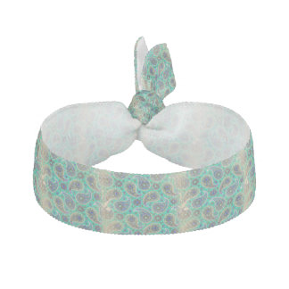 Antiqued Paisley on Green Hair Tie