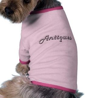 Antiques Classic Retro Design Pet Tshirt