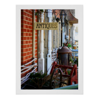 Antiques Row Photography Poster