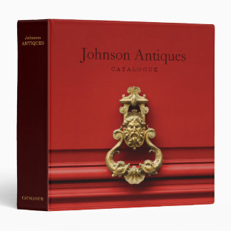 Antiques Store Catalogue Vinyl Binder